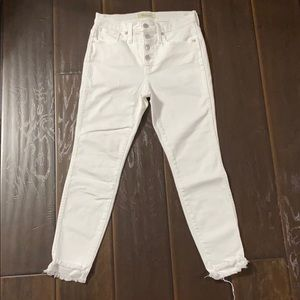 """Madewell 10"""" High Rise Button Fly Raw Hem Jeans"""